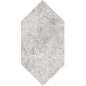 Silver Shadow Honed Large Picket Marble Waterjet Decos 6x12