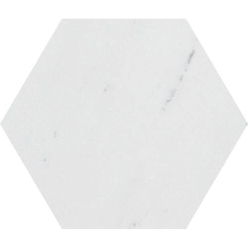 Aspen White Polished Hexagon Marble Waterjet Decos 5 25/32×5