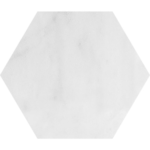 Avalon Polished Hexagon Marble Waterjet Decos 5 25/32×5