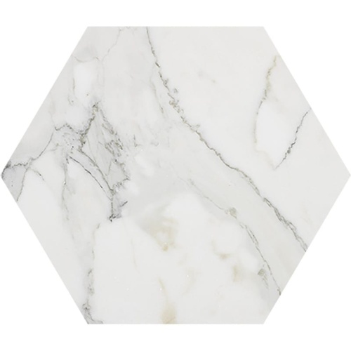 Calacatta Gold Extra Polished Hexagon Marble Waterjet Decos 5 25/32×5
