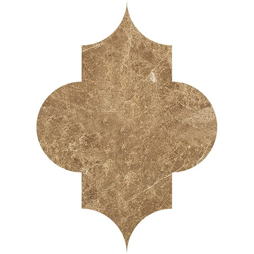 Paradise Polished Arabesquette Marble Waterjet Decos 6×8 1/4