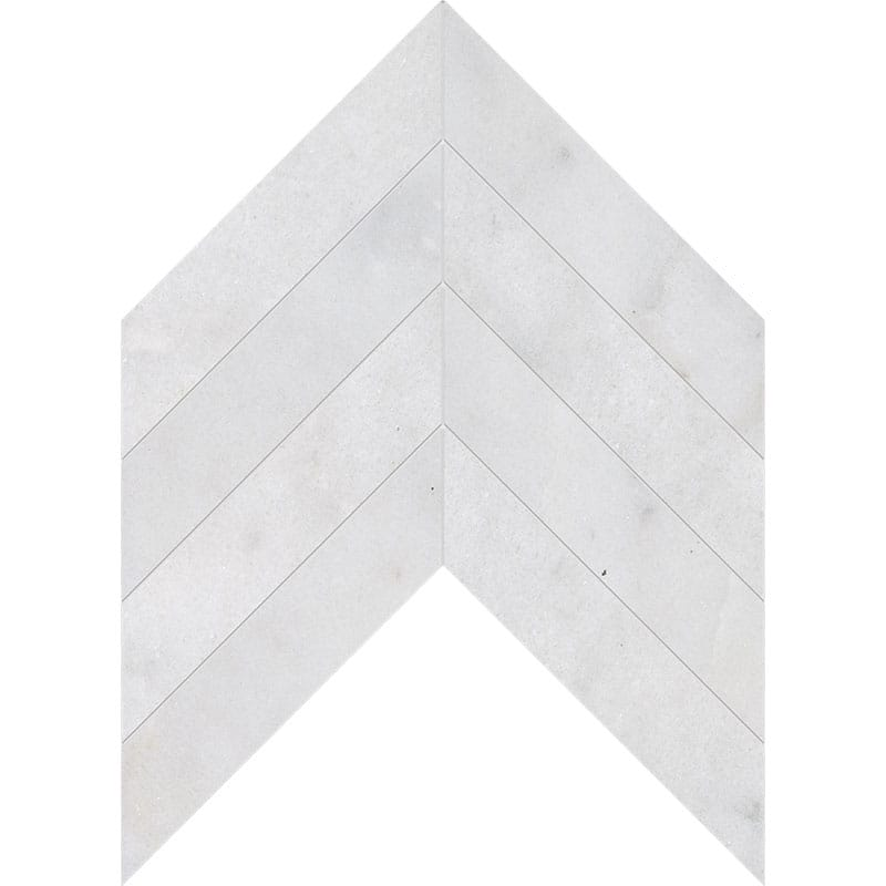Avalon Polished Chevron Marble Waterjet Decos 13x10