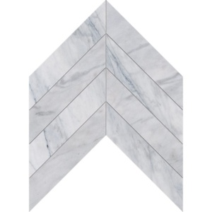 Avenza Honed Chevron Marble Waterjet Decos 13x10