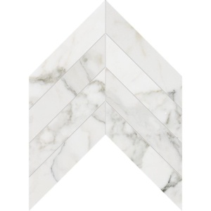 Calacatta Gold Extra Polished Chevron Marble Waterjet Decos 13x10