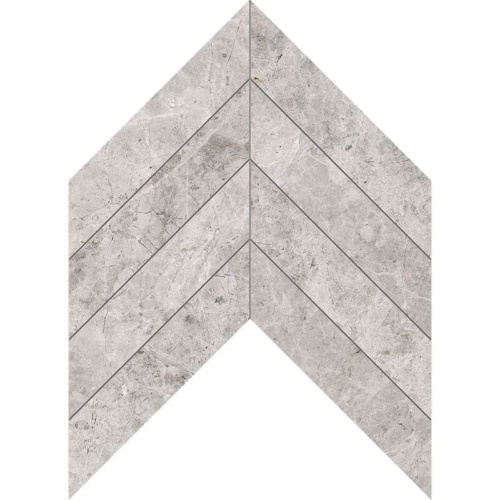Silver Clouds Polished Chevron Marble Waterjet Decos 13×10