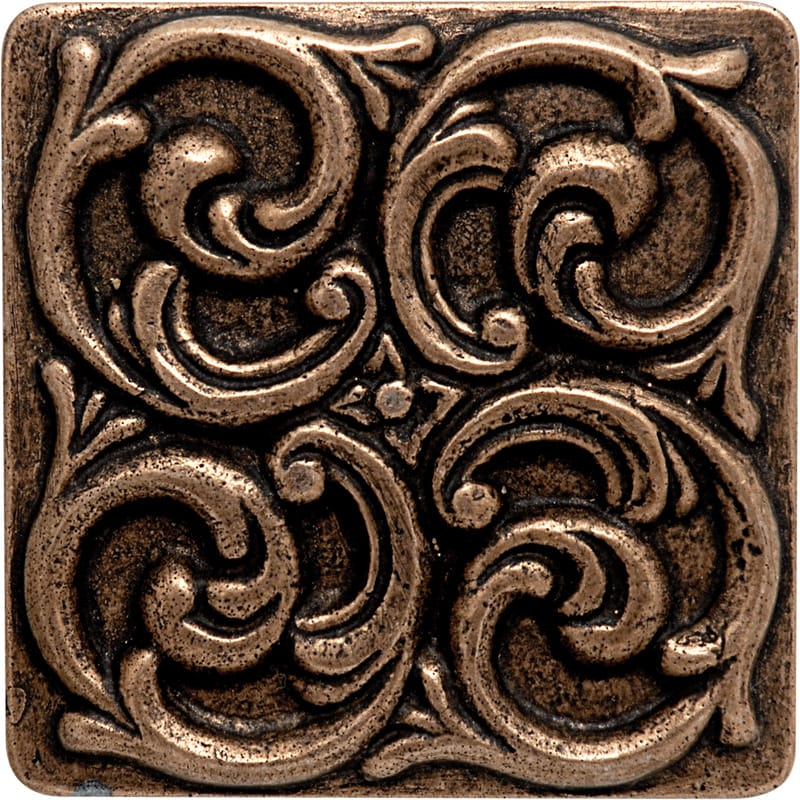 Bronze Brushed 4x4 Swirl Metal Decorative