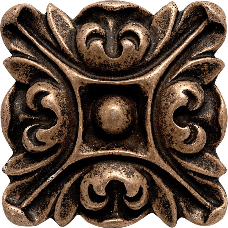 Bronze Brushed 3x3 Crown Metal Decorative