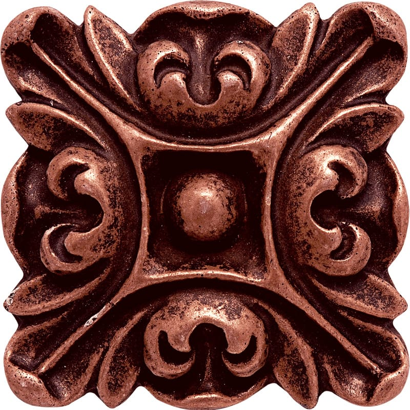 Copper Brushed 3x3 Crown Metal Decorative