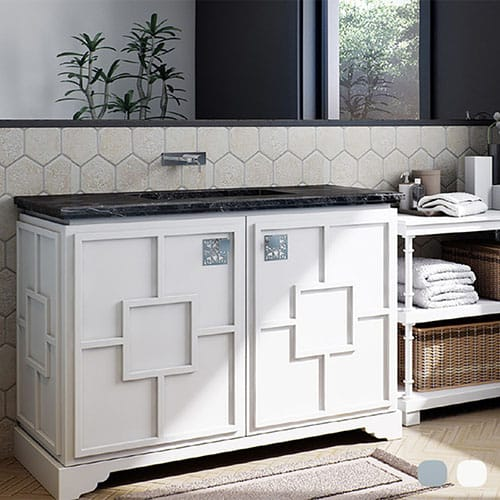 Fresh White Pavillion Cabinet Vanities 29 3/4×21 3/4
