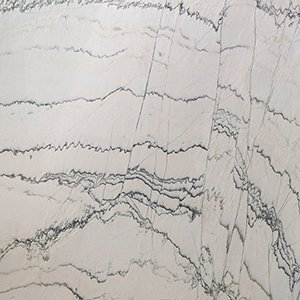 White Macaubas Polished Quartzite Slab Random 1 1/4