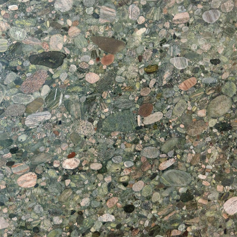 Verde Marinace Polished Random 1 1/4 Granite Slab