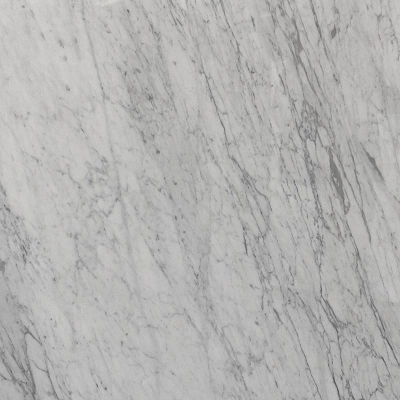 White Carrara Polished Marble Slab Random 1 1/4