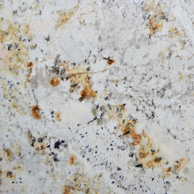 Gold And Silver Polished Random 1 1/4 Granite Slab