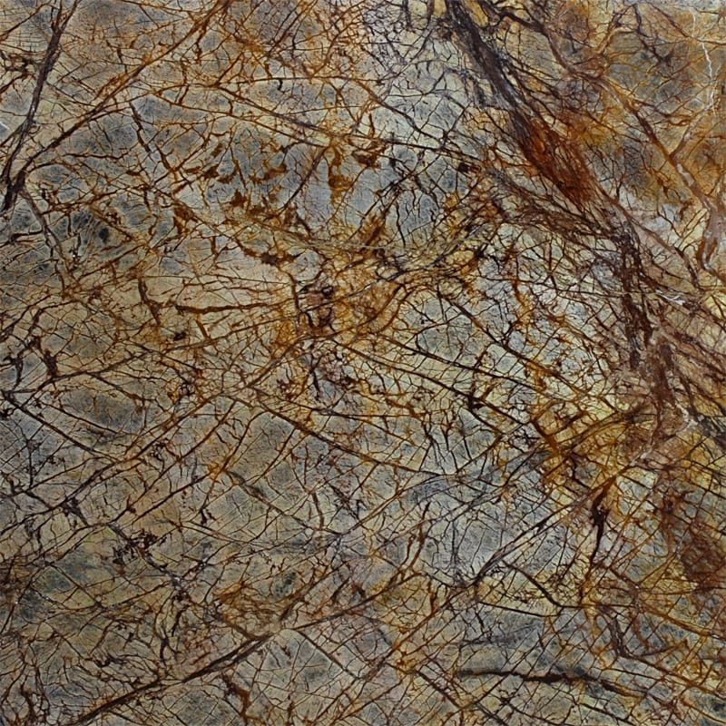 Rainforest Brown Polished Quartzite Slab Random 1 1/4