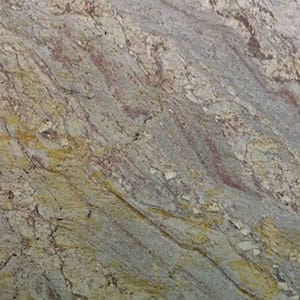 Typhoon Bordeaux Polished Granite Slab Random 1 1/4