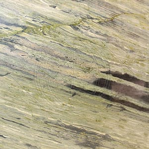Verde Bamboo Light Polished Granite Slab Random 1 1/4