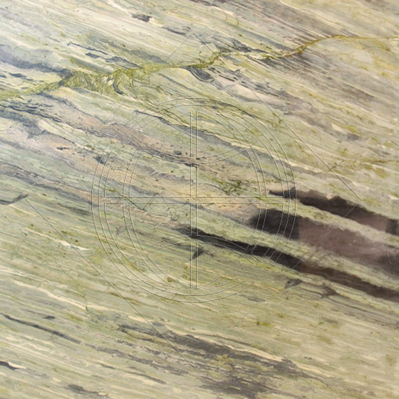 Verde Bamboo Light Polished Random 1 1/4 Granite Slab