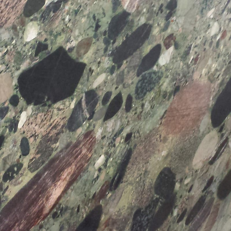Picasso Green Polished Random 1 1/4 Granite Slab