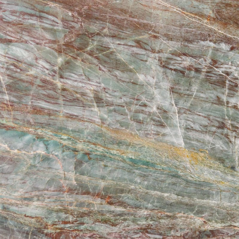 Green Fire Polished Granite Slab Random 1 1/4