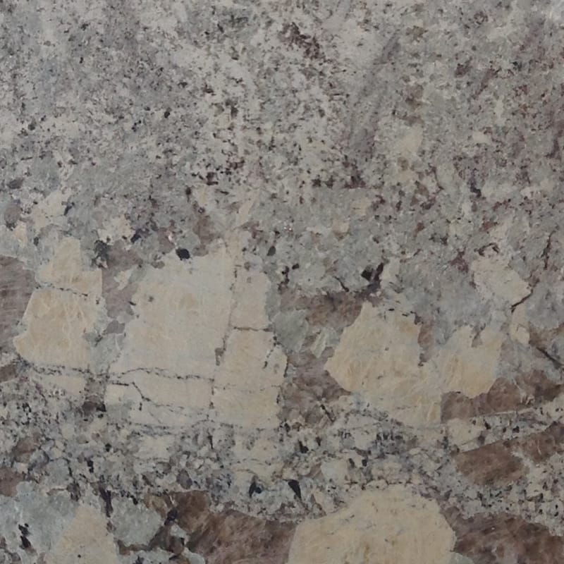 Alaska White Polished Random 1 1/4 Granite Slab