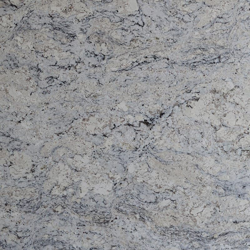 Glacier White Polished Random 1 1/4 Granite Slab