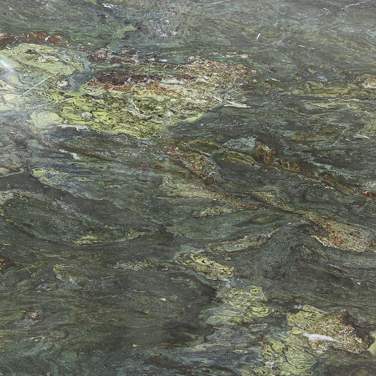 River Green Polished Random 1 1/4 Granite Slab