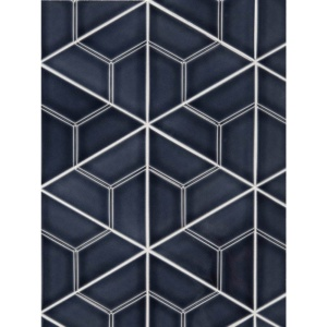 Fontainebleau Crackled Boka Ceramic Wall Decos 6 Inch Triangle