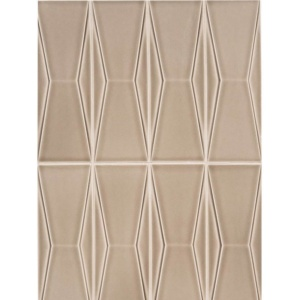 In Shale Crackled Delacy Ceramic Wall Decos 3x9