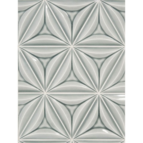 In Mist Crackled Marea Ceramic Wall Decos 6 Inch Triangle