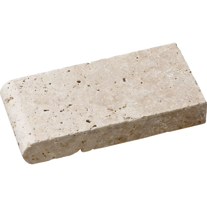 Ivory Tumbled 4x8 Pool Coping Travertine Pool Copings