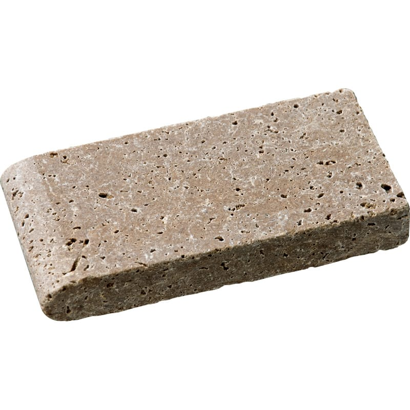 Walnut Dark Tumbled 4x8 Pool Coping Travertine Pool Copings