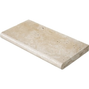Ivory Tumbled Travertine Pool Copings 12x24