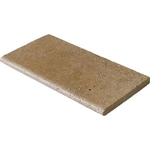 Walnut Dark Tumbled Pool Coping Travertine Pool Copings 12x24