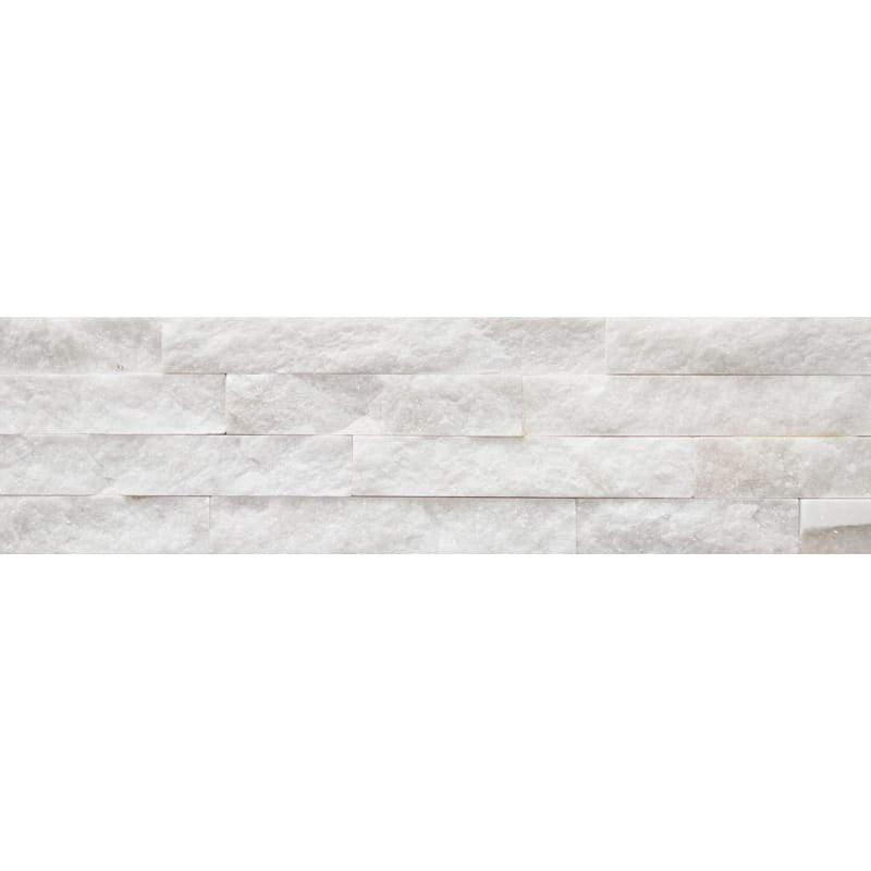 White Quartize Split Face 6x24 Ledger Panel Slate Ledger Panel
