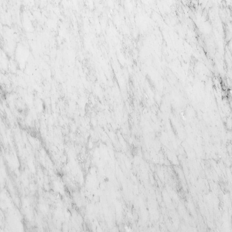 White Carrara Polished Marble Tiles 18x18