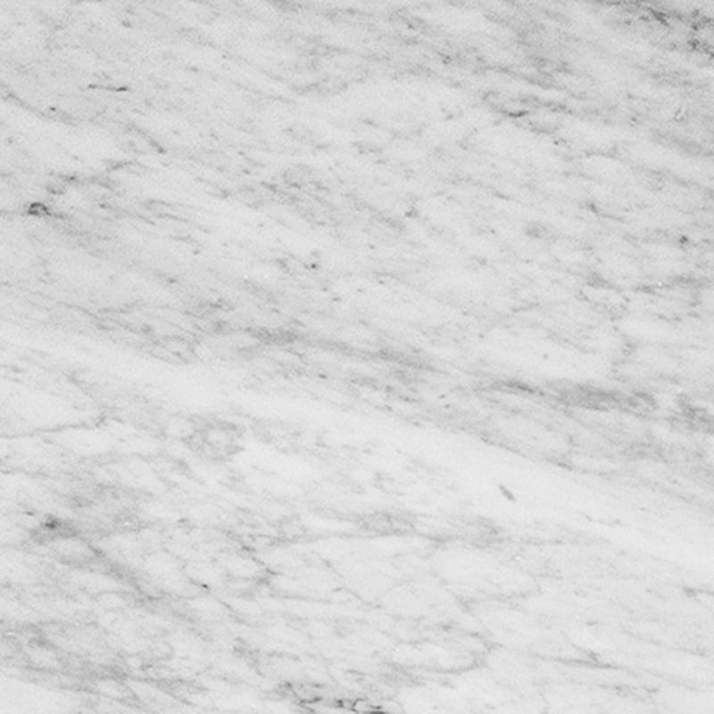 White Carrara Polished Marble Tiles 12x12
