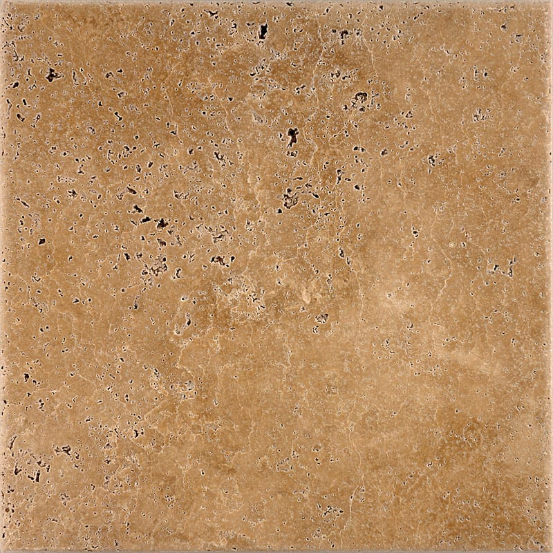 Walnut Dark Antiqued Travertine Tiles 12x12