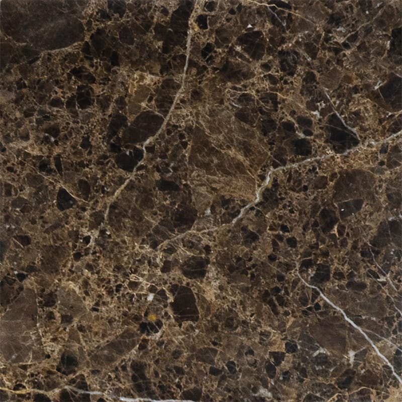 Emperador Dark Polished Marble Tiles 12x12