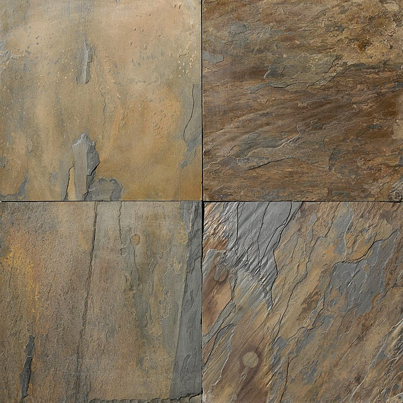 California Gold Natural Cleft Slate Tiles 12x12