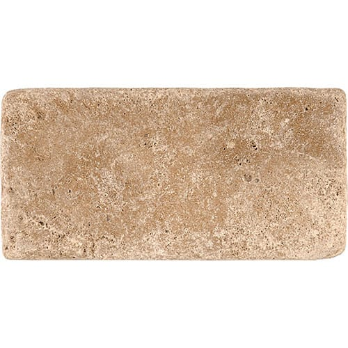 Walnut Dark Tumbled Travertine Tiles 3×6