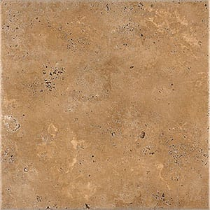 Walnut Dark Antiqued Travertine Tiles 18x18