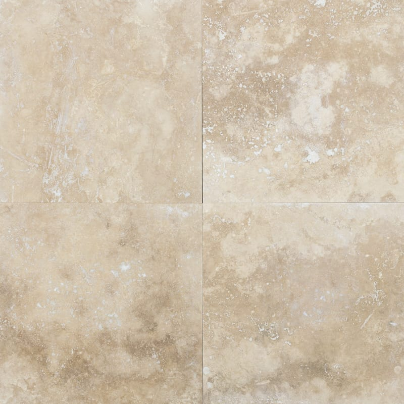 Ivory Standard Honed&filled Travertine Tiles 18x18