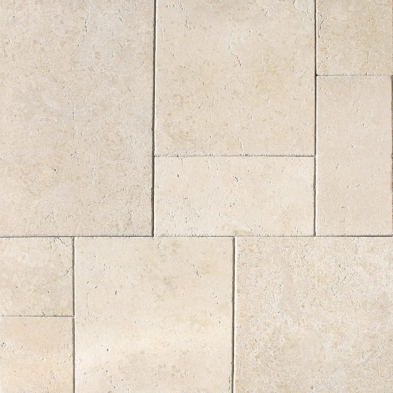Seashell Antiqued Versailles Pattern Limestone Patterns