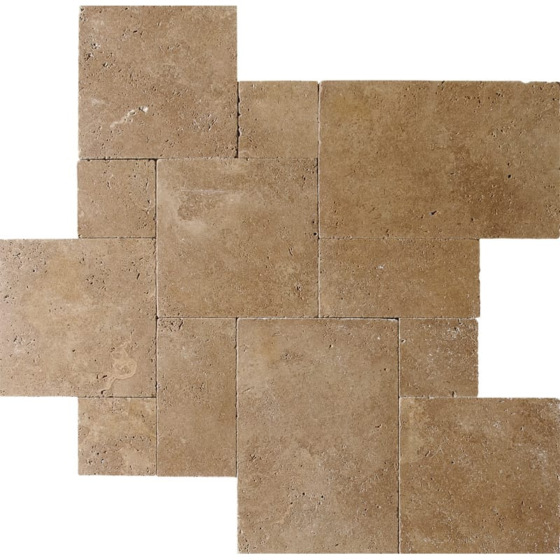 Walnut Dark Tumbled Versailles Pattern Travertine Patterns Versailles Pattern