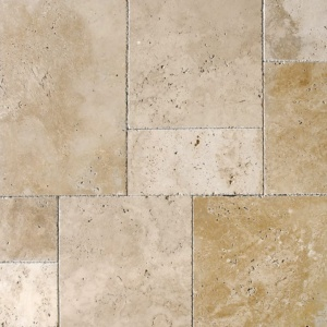 Ivory Pave Real Travertine Pavers Versailles Pattern