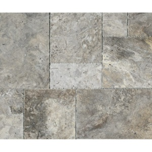 Silverado Brushed Chiselled Travertine Patterns Versailles Pattern
