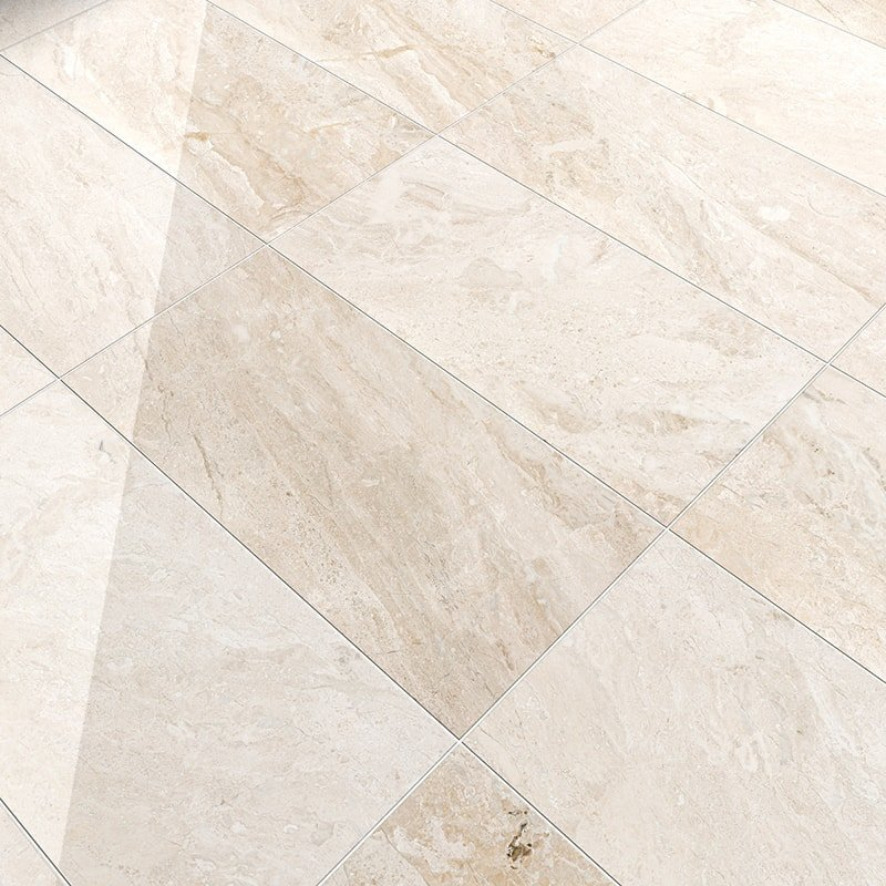 Diana Royal Polished Marble Tiles 12x24