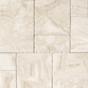 Diana Royal Brushed Chiselled Marble Pavers Versailles Pattern