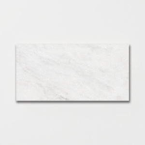 Glacier 1/2 Honed Marble Tiles 12x24