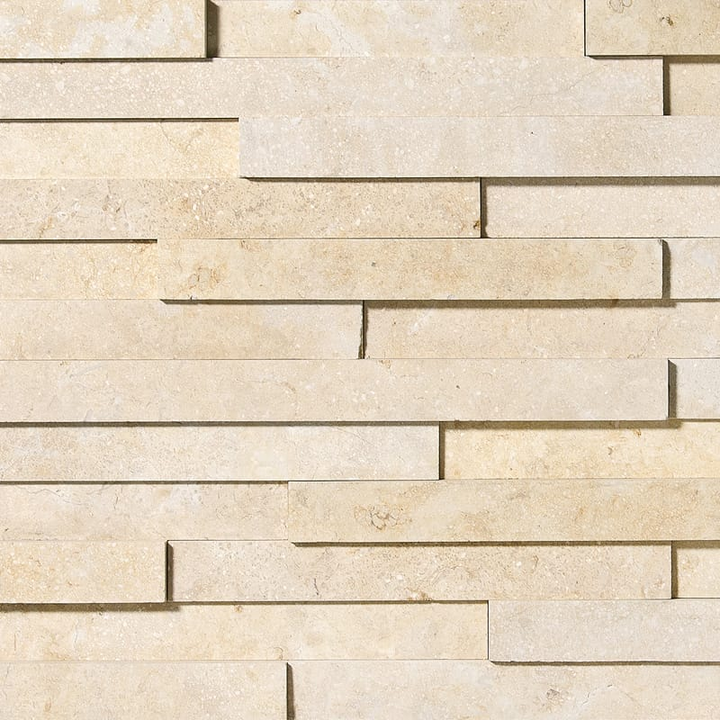 Seashell Honed Limestone Wall Deco Elevations Pattern
